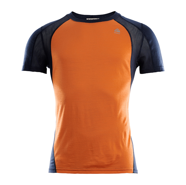 Aclima Sports T-shirt M, orange and blue